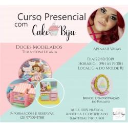 CURSO PRESENCIAL COM CAKE BIJU: DOCES MODELADOS