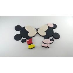 Cortador Minnie e Mickey beijo