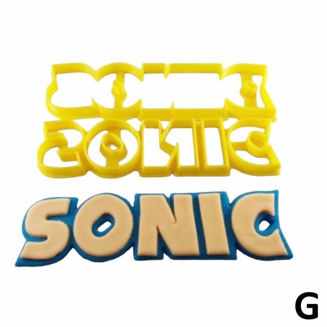 Cortador Sonic Logo Grande Para Bolo