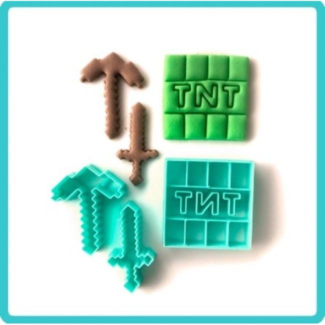 Cortador Minecraft Itens TNT Espadas