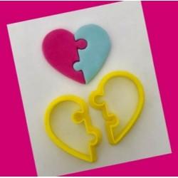 Cortador Coração Quebra Cabeça Dia Dos Namorados