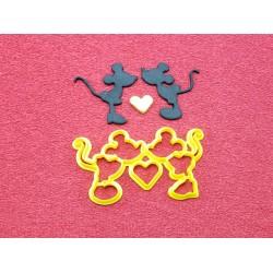 Cortador Mickey E Minnie Coração Grande