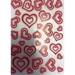 Placa De Textura Coração Para Decorar