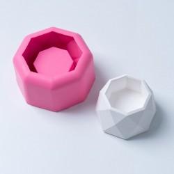 Molde De Silicone Vaso Octagonal Para Decorar
