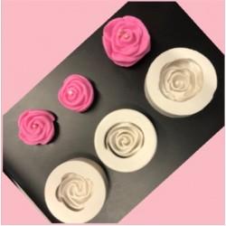 Molde De Silicone Kit Com 3 Rosas Para Decorar