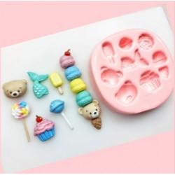 Molde De Silicone Urso Sorvete Pirulito Cupcake