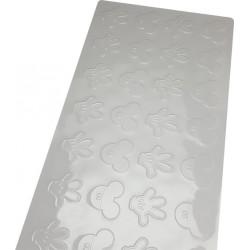 Forma Placa de Textura Roupa Mickey