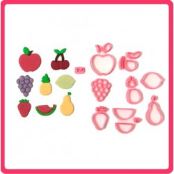 Cortador Kit Frutas Grande Uva Maçã Morango Pera...