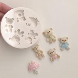 Molde De Silicone Ursos Ursinhos Para Decorar