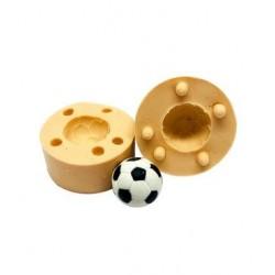 Molde de Silicone Bola Futebol 3D Para Decorar