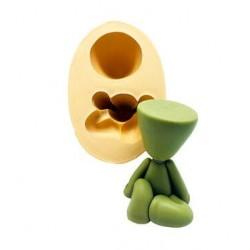 Molde de Silicone Boneco Vaso Bob Para Decorar