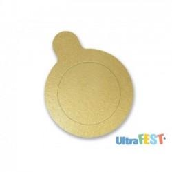 Base de Ouro Redonda para Doces 10cm com 20 Unidades Ultrafest