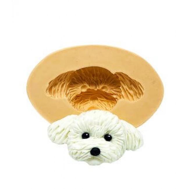 Molde de Silicone Cachorro Rosto Poodle