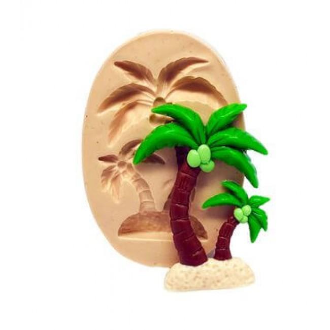 Molde de Silicone Coqueiro Tropical Para Decorar