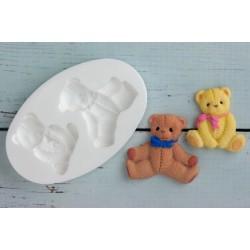 Molde de Silicone Urso Ursinhos Sentados