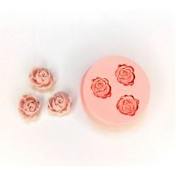 Molde de Silicone Mini Flores 3 Rosas