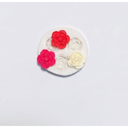 Molde de Silicone Flor Mini Rosas