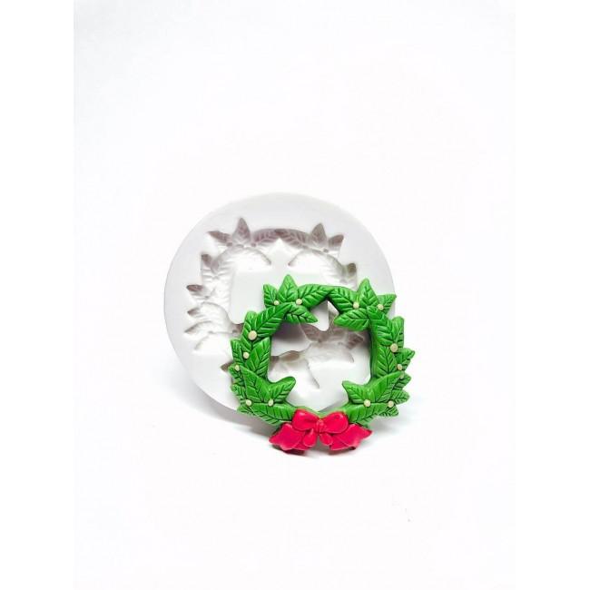 Molde de Silicone Gurlanda de Natal Com Laço