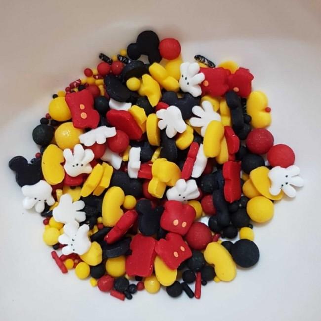 Confetes Para decoração Mix Minnie Vermelha