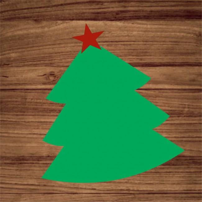 Base em MDF Modelo Arvore de Natal Verde