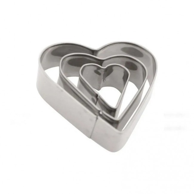 Cortador de Inox 3 Corações Coração