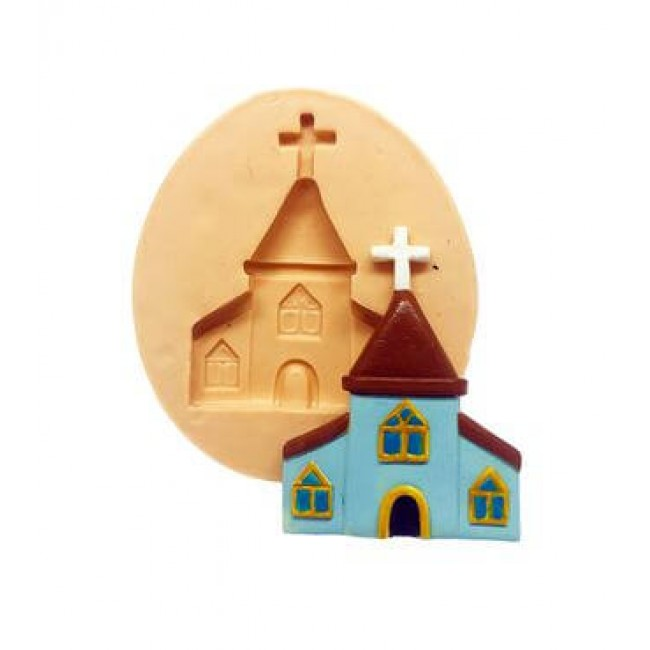 Molde de Silicone Igreja Para Decorar Religião