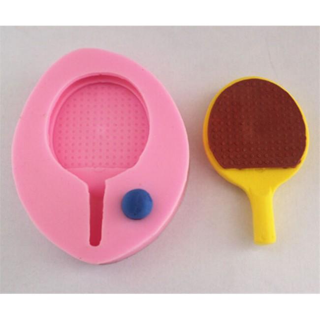 Molde de Silicone Esporte Tenis Raquete e Bola