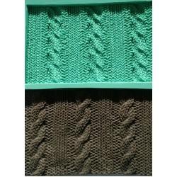 Molde de Silicone Tricô Costura Textura