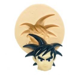 Molde de Silicone Dragon Ball Rosto Goku