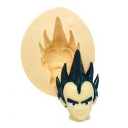 Mollde de Silicone Dragon Ball Rosto Vegeta