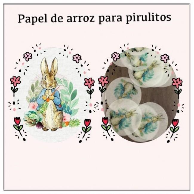 Papel de Arroz Comestível Páscoa Coelho Com Cenoura