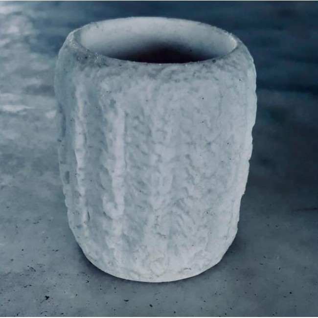 Molde de Silicone Vaso Cactos Efeito Pedras