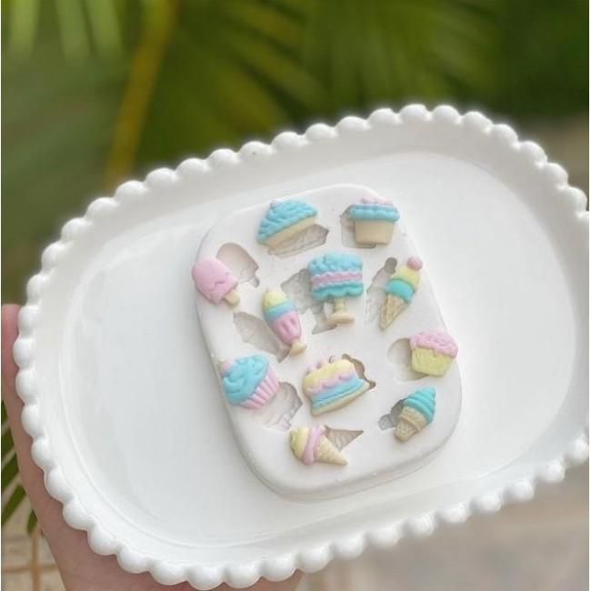 Molde de Silicone Confeitaria Bolos Doces Sorvetes Cupcakes