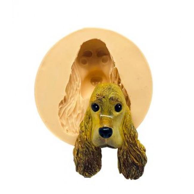 Molde de Silicone Cachorro Rosto Cocker Spaniel