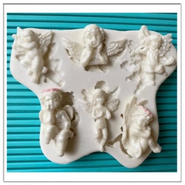 Molde de Silicone Religião Varios Anjos 6 Modelos