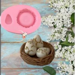 Molde de Silicone Ovo e Ninho de Passarinho
