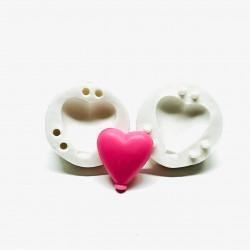 Molde de Silicone Bexiga Balão Coração Médio