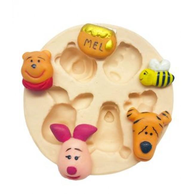 Molde de Silicone Turma do Urso Pooh