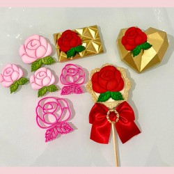 Cortador Kit Rosas Decorar Dia Das Mães Flores