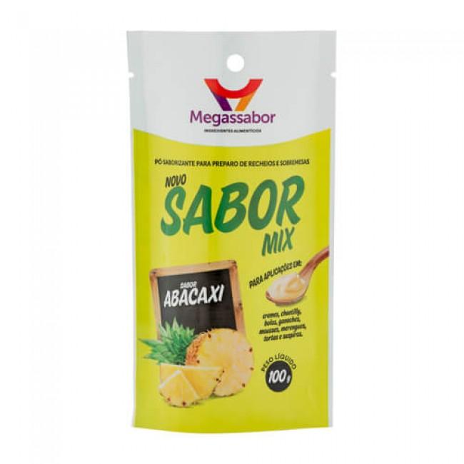 Pó Saborizante Sabor Mix Abacaxi 100g Megassabor