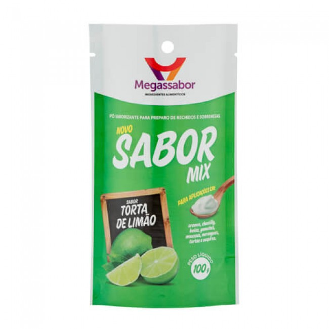 Pó Saborizante Sabor Mix Torta de Limão 100g Megassabor
