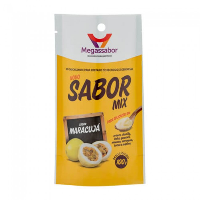 Pó Saborizante Sabor Mix Maracujá 100g Megassabor