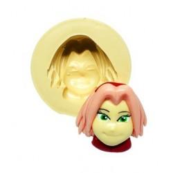 Molde de Silicone Naruto Rosto Sakura