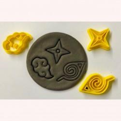 Cortador Naruto Kit Nuvem e Estrela 3cm