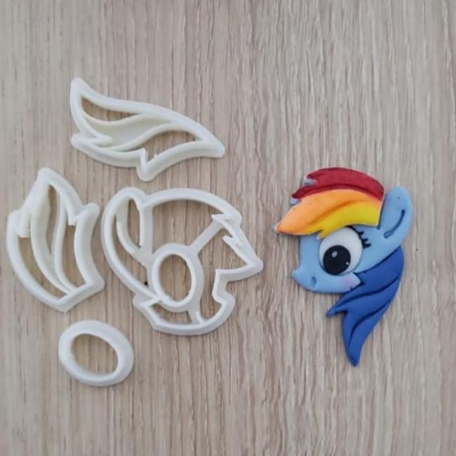 Cortador My Little Pony - Pony Rainbow Dash