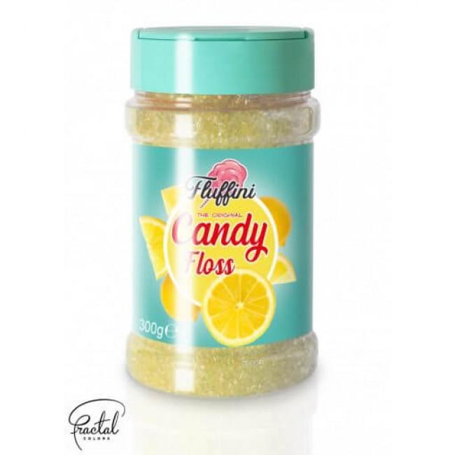Mistura Pronta Para Fazer Algodão Doce Sabor Limão 300g