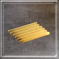 Palito de Acrilico Dourado Para Confeitaria
