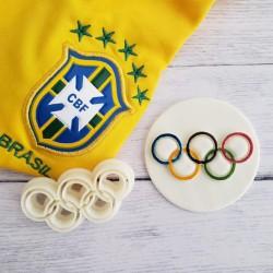 Cortador Aneis Olimpicos Para Decorar Olimpiadas