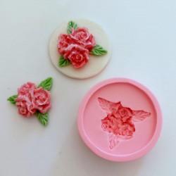 Molde de Silicone Floral de Rosas Para Decorar