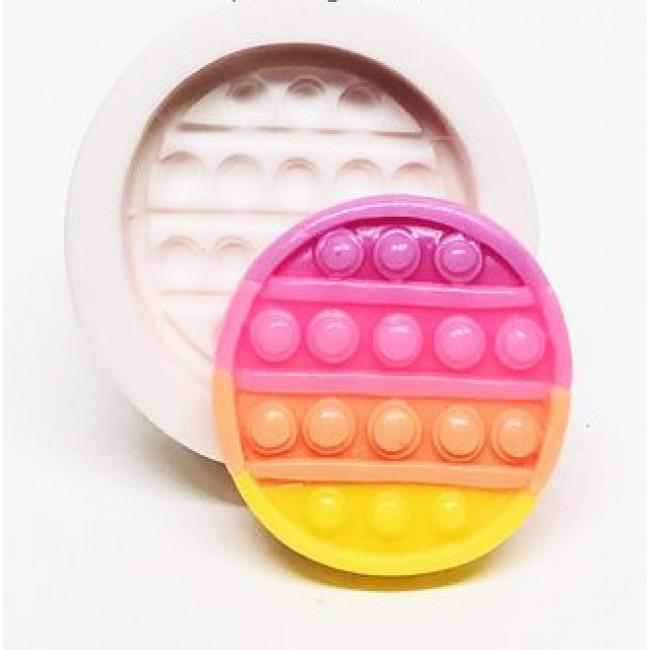 Molde de Silicone Fidget Toy Pop It Redondo Circulo